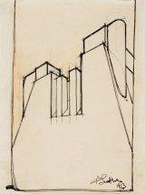 Studio plastico-architettonico imperniato su un volume a sezione trapezoidale