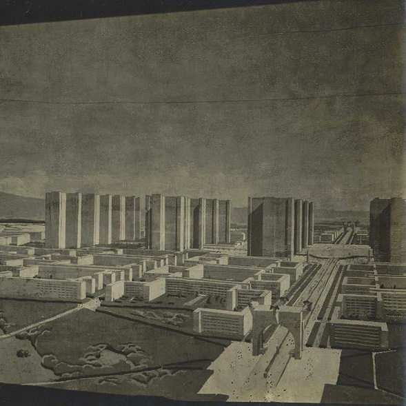 "Le Corbusier's ""contemporary city"" (1925)"