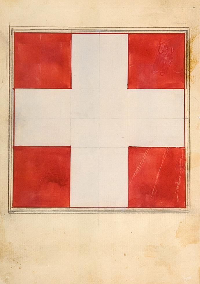 Илья Чашник. %22Белый крест на красном фоне%22, 1923