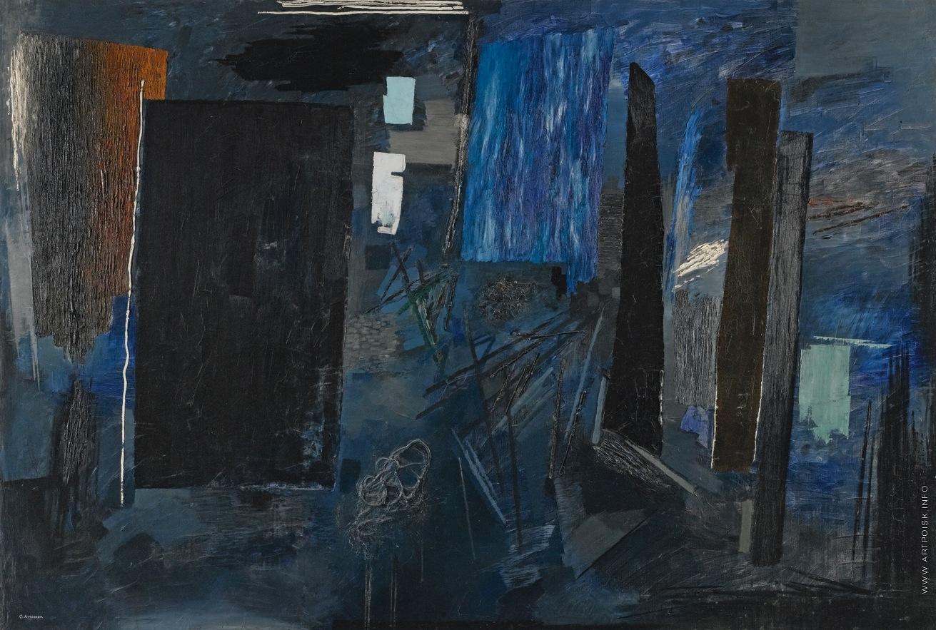Полночь в Париже - Анненков Ю. П. -- Артпоиск - русские художники