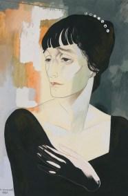 Портрет Анны Ахматовой - Анненков Ю. П. -- Артпоиск