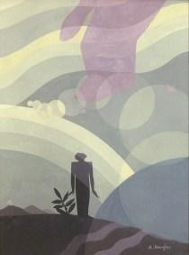 Aaron Douglas, The Creation, 1935, Oil on Masonite, 48 x 36%22