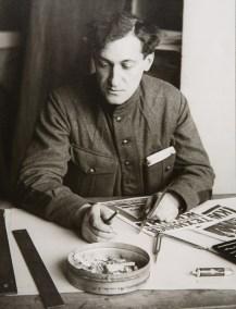 Artist, Producer, and Publisher Alexei Gan, 1924