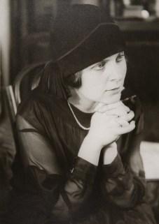 The writer Elsa Triolet (sister of Lily Brik), 1924
