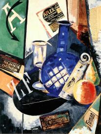 Aleksandra Ekster, Stiff Life. ca. 1913 Collage and oil on canvas. 68 x 53 cm