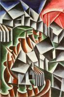 Liubov Popova, Birsk, 1916 Oil on canvas, 106 x 69.5 cm