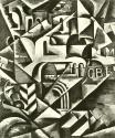 Liubov Popova, Cubist Cityscape. ca. 1914 Oil on canvas. 137.1 x 91.4 cm.