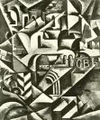 Liubov Popova, Cubist Cityscape. ca. 1914 Oil on canvas. 137.1 x 91.4 cm.