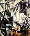 Liubov Popova, The Pianist. 1915 Oil on canvas. 106.5 x 187 cm