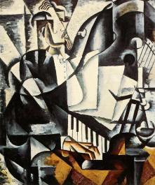 Liubov Popova, The Pianist. 1915 Oil on canvas. 106.5 x 187 cm