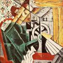 Nadezhda Udaltsova, Seamstress. 1912-13 Oil on canvas, 71.5 x 70.5 era