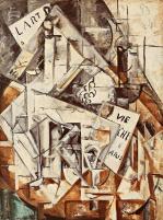 Nadezhda Udaltsova, Study for Restaurant, 1915 Oil on canvas, 71 x 53 cm