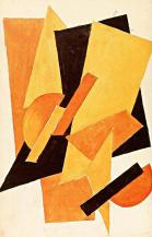 Nadezhda Udaltsova, Untitled, 1916 Gouache on paper, 48 x 38.5