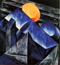 Natalia Goncharova, Composition, 1913-14 Oil on canvas. 103.5 x 97.2 cm