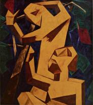 Natalia Goncharova, Peasants Gathering Grapes, 1913 Oil on canvas. 114.5 x 130 cm