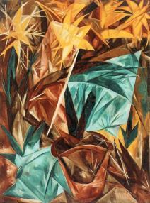 Natalia Goncharova, Rayist Lilies, 1913 Oil on canvas, 91 x 75.4 cm
