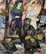 Natalia Goncharova, Sabbath, 1912 Oil on canvas, 137.5 x 11 8 cm