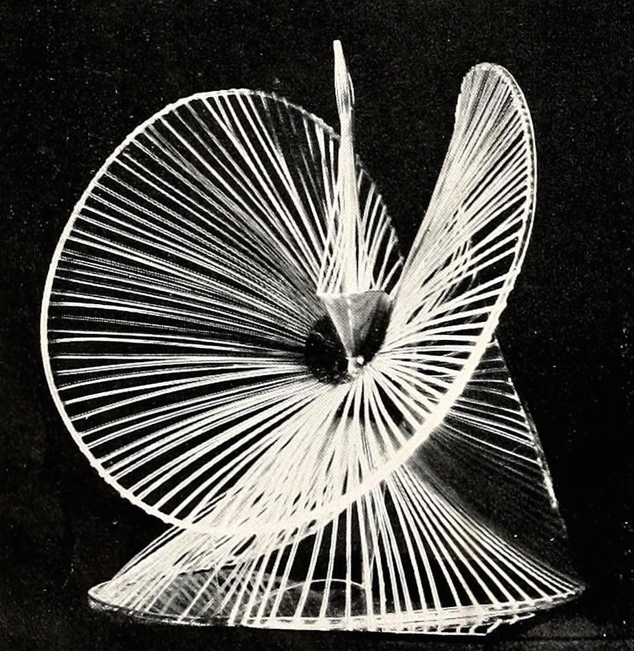 Naum Gabo, sphere construction of a fountain (1937) plastic 16 inches high1