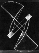 Naum Gabo Square Relief lost original (c.1920, this version 1937) Plastic on metal base, 44.5 x 44.5 x 16.5 cm
