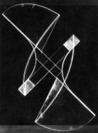 Naum Gabo Square Relief lost original (c.1920, this version 1937) Plastic on metal base, 44.5 x 44.5 x 16.5 cm