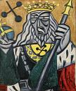 Olga Rozanova, King of Clubs, 1912-15, from the series Playing Cards Oil on canvas, 72 x 60 cm