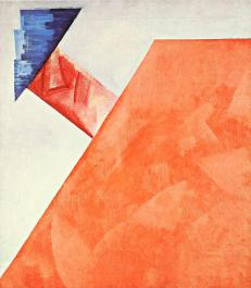 Olga Rozanova, Non-Objective Composition(Color Painting), 1917 Oil on canvas, 71 x 64 cm