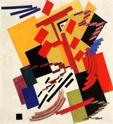 Olga Rozanova, Non-Objective Composition(Suprematism). 1916 Oil on canvas,102 x 94 cm