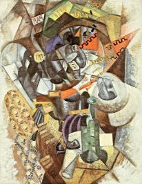 Olga Rozanova, Pub (Auction), 1914 Oil on canvas, 84 x 66 cm