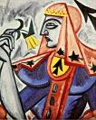 Olga Rozanova, Queen of Spades, 1914-15. from the series Playing Cards Oil on canvas, 77.5 x 61.5 cm
