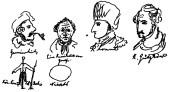 Drawings sent to Marie Engels