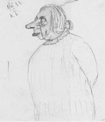 N.K. Krupskaya sketched by V.I. Mezhlauk. 1June 1933