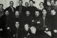 Bukharin, Stalin, and Voroshilov among a group of delegates to the Fourth All-Union Congress of Soviets, Moscow 1927