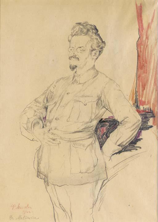 Philip+Andreevich+Maliavin-Portrait+Of+Leon+Davidovich+Trotsky