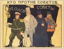 Плакаты СССР- Кто против Советов. (Моор Д.) 1919