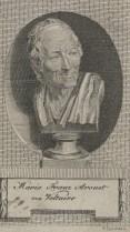 Bildnis des Marie François Arouet Voltaire Friedrich Christian Carstens - um 1780 - Halberstadt, Gleimhaus