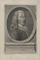 Bildnis des Marie François Arouet Voltaire Jacob Folkema - 1738 - Halberstadt, Gleimhaus