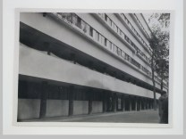 Dedoyard, C. Exterior view of the Narkomfin (People's Commissariat for Finance) Apartment Building, 25 Novinskii Boulevard, Moscow, September 1932a