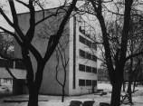 Robert Byron Narkomfin apartments Moscow, USSR Architects: Moisei Ginzburg and Ignatii Milinis (1928-1929) Type: A-negative Exterior view, communal center, detail