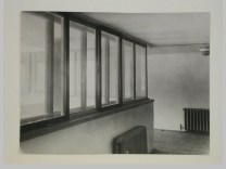 Gruntal, V.G. Interior view of the People's Commissariat for Finance (Narkomfin) Apartment Building showing a corridor, 25 Novinskii Boulevard, Moscow, after 1930