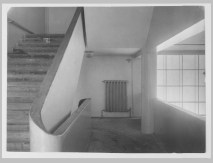 Gruntal, V.G. Interior view of the People's Commissariat for Finance (Narkomfin) Apartment Building showing stairs, 25 Novinskii Boulevard, Moscow, after 1930