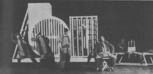 """THE """"CONSTRUCTIVIST"""" STAGE IN THE MAYER HOLD THEATRE"""