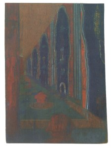 Ivan Leonidov, color sketch for the city of the sun (1940s-1950s)d