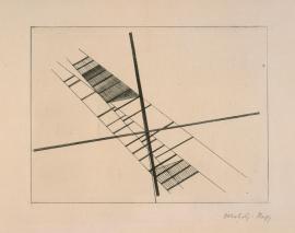 László Moholy-Nagy (20.07.1895 - 24.11.1946), Stecher Title Ohne Titel Work Type Midas-Objekt Material Farblithographie Measurements Blattmaß 14,2 x 9,4 cm