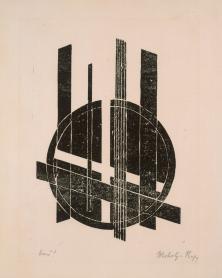 László Moholy-Nagy (20.07.1895 - 24.11.1946), Stecher Title Ohne Titel Work Type Midas-Objekt Material Linolschnitt Measurements Blattmaß 32,6 x 25,0 cm