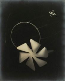 László Moholy-Nagy PHOTOGRAM WITH PINWHEEL AND OTHER SHAPES