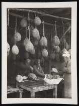 Langston Hughes, mellon-sellers in the market of Tashkent. Soviet central Asia, U.S.S.R