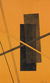 LASZLO MOHOLY-NAGY (1895-1946) Konstruktionen--Kestermappe 6- one plate (Passuth 127) lithograph in black and orange, 1922-23