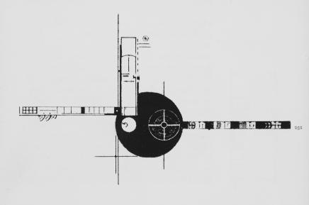 Leonidov, Ivan (Russian architect, 1902-1959) Culture Russian Title Lenin Institute of Librarianship (project) plan Work Type Architectural drawing Date 1927 Style Period Constructivist