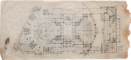 A. Kuznetsov. Palace of Labour in Moscow. Competition project. Sketches. 1923