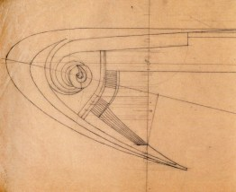 A. Mukhin. Supervisor L. Vesnin Port Lighthouse. Sketches. 1922 a